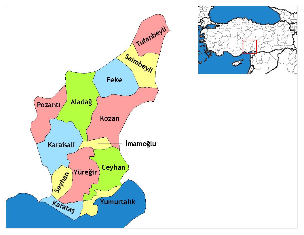 Image result for seyhan ilçesi haritası
