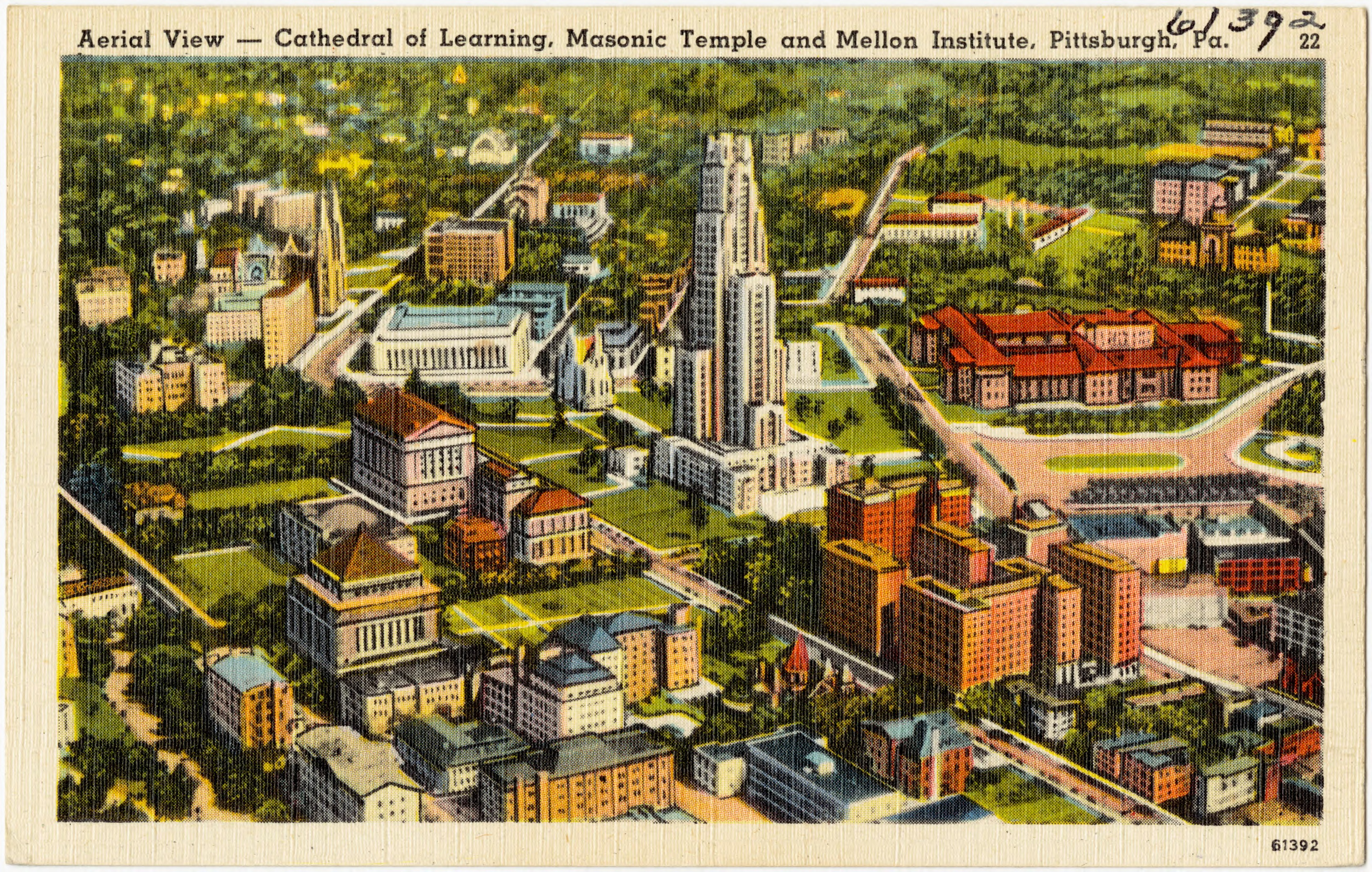 Fileaerial View Cathedral Of Learning Masonic Temple And Mellon