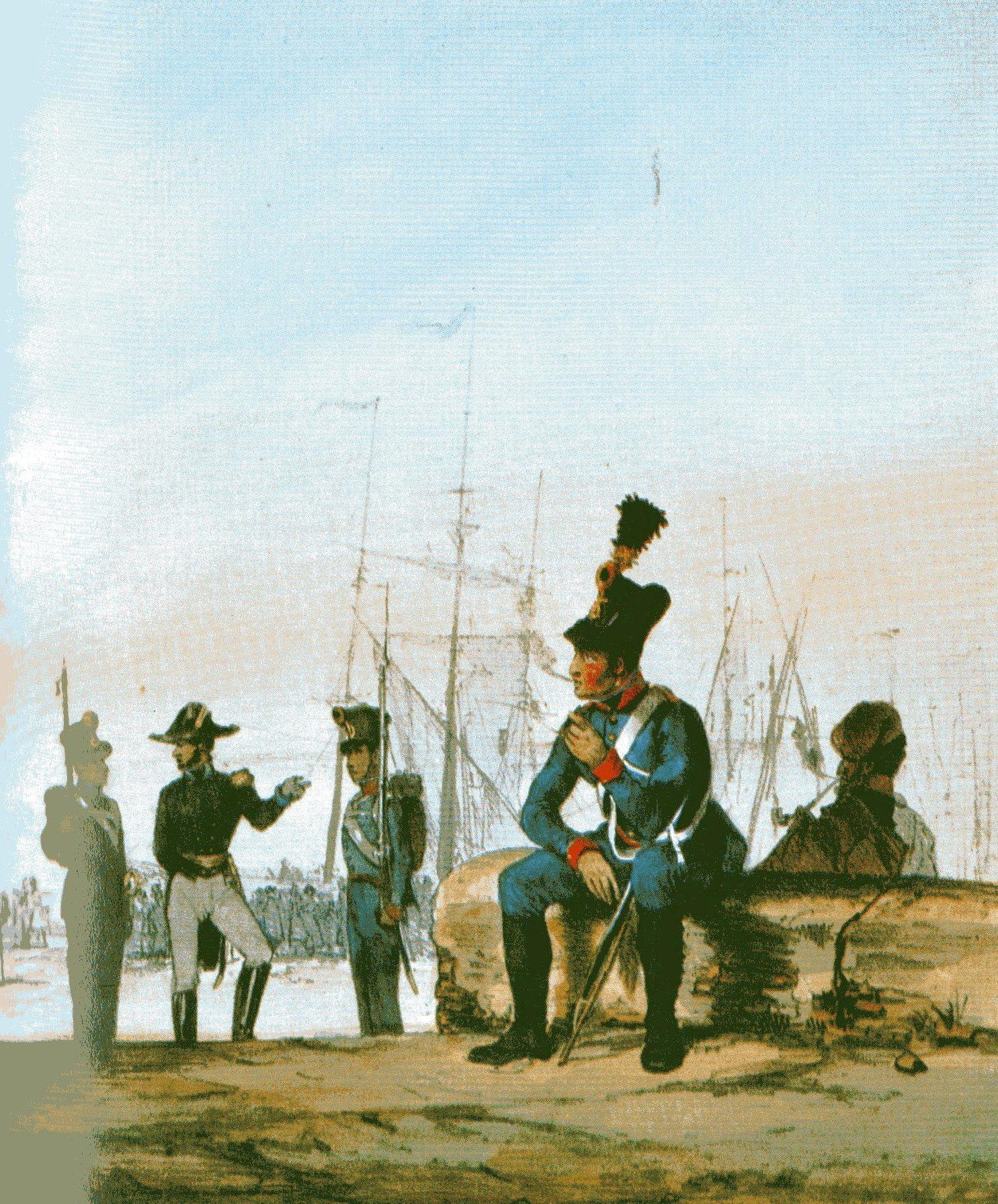 File:Angehörige der österreichischen Marine um 1840 Marine ...