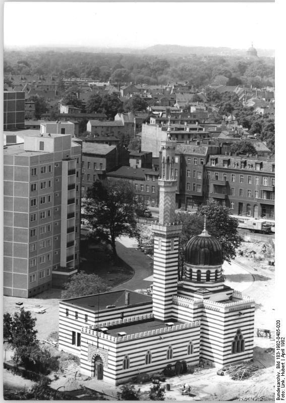 """Bundesarchiv Bild 183-1982-0405-020, Potsdam, Wasserwerk maurische """"Moschee"""".jpg"""