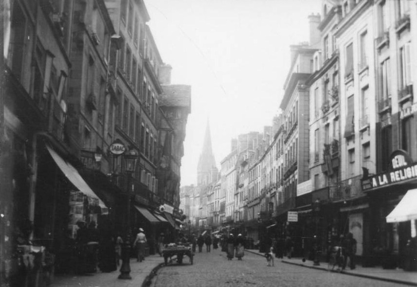 File caen rue saintjean 1890 vers wikimedia commons - Rue saint laurent caen ...