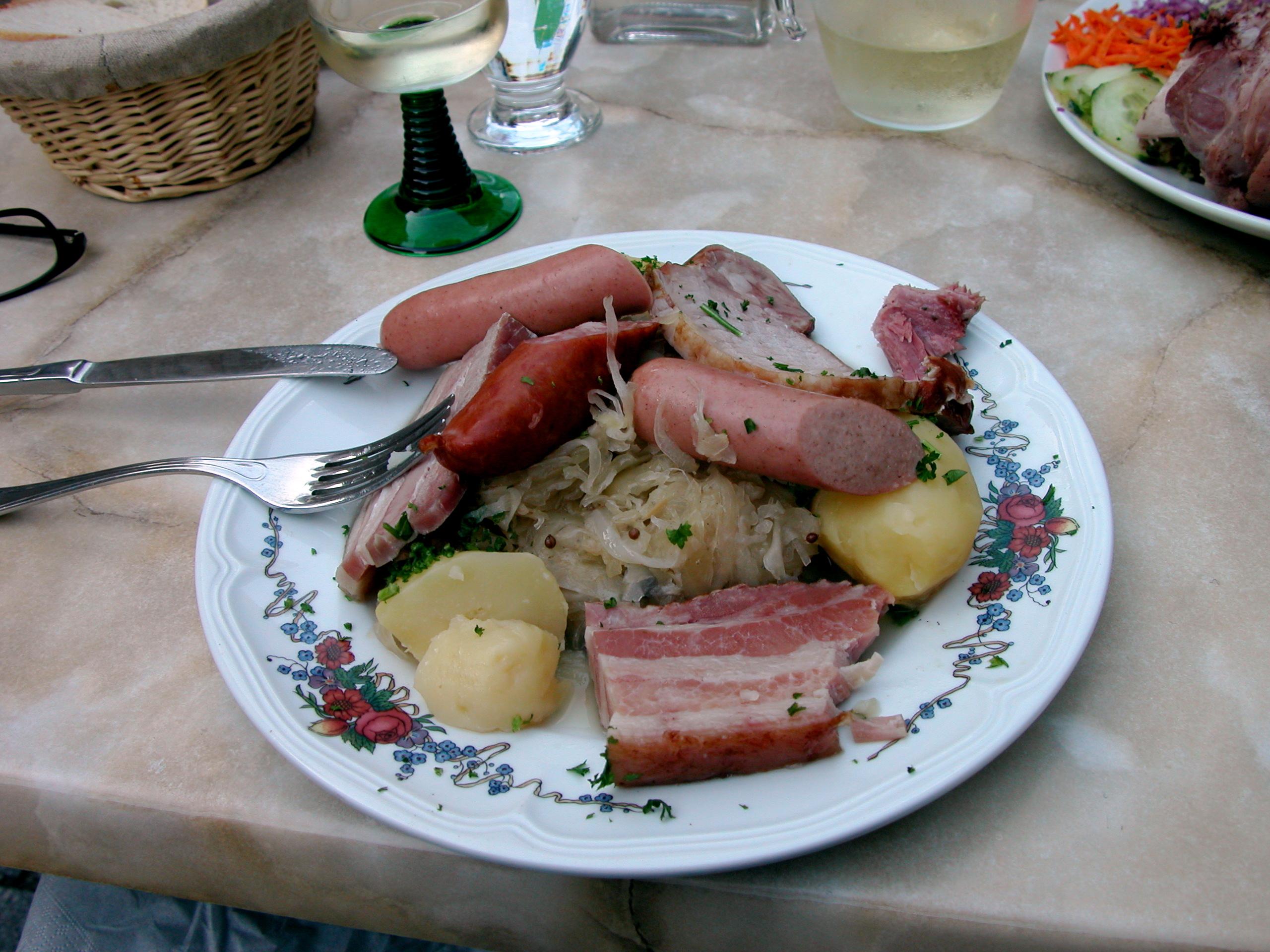 la choucroute alsacienne