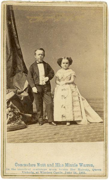 Commodore Nutt and Minnie Warren 1865