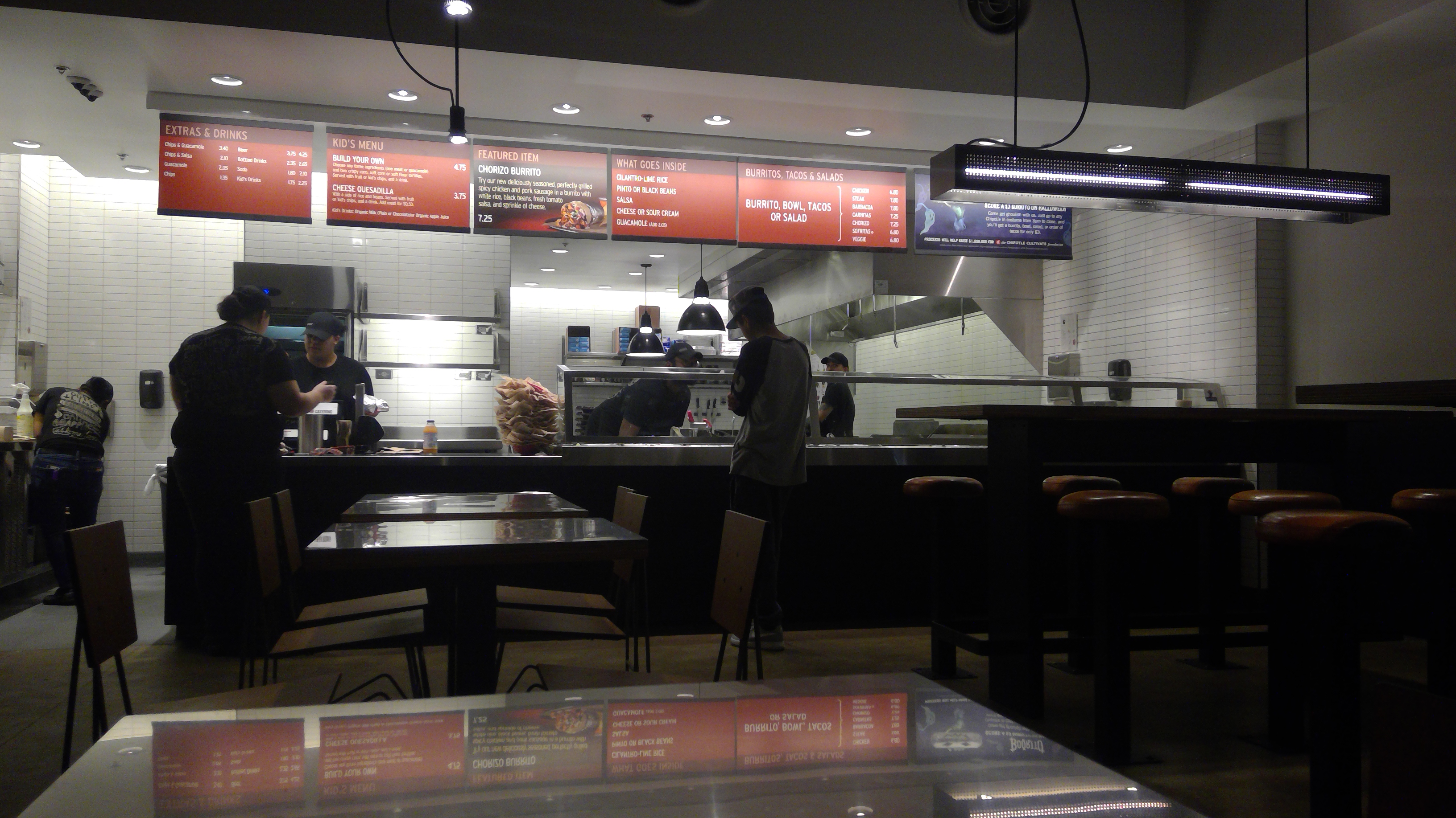 File Counter Area Of A Chipotle Restaurant In Fredericksburg