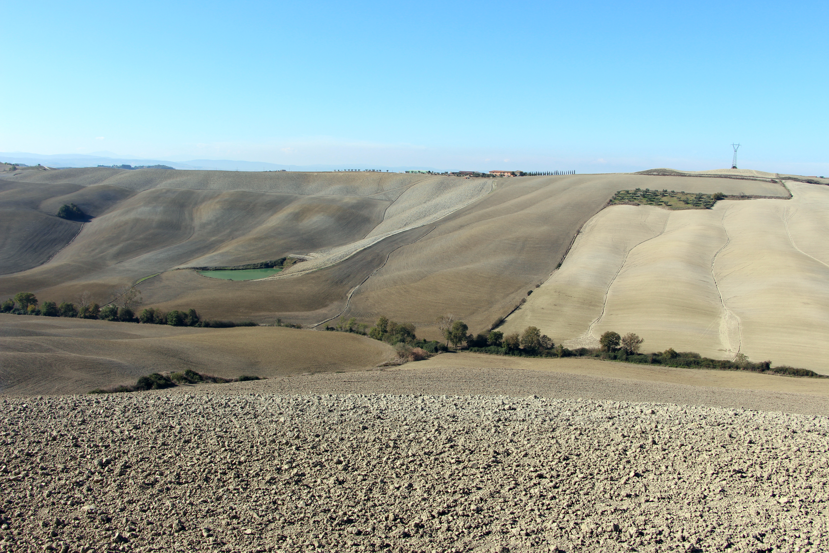 The arid landscape of the Crete Senesi near Asciano