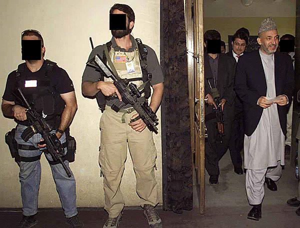 DEVGRU soldiers protecting Hamid Karzai