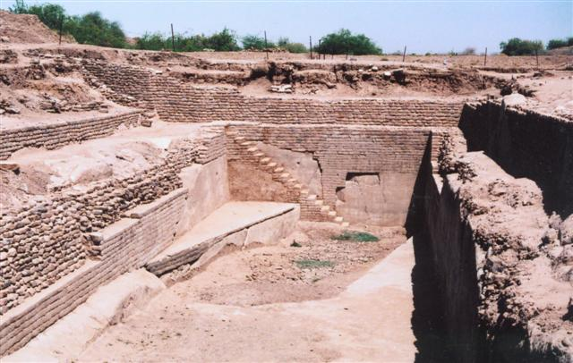 An ancient sophisticated water reservoir in Dholavira