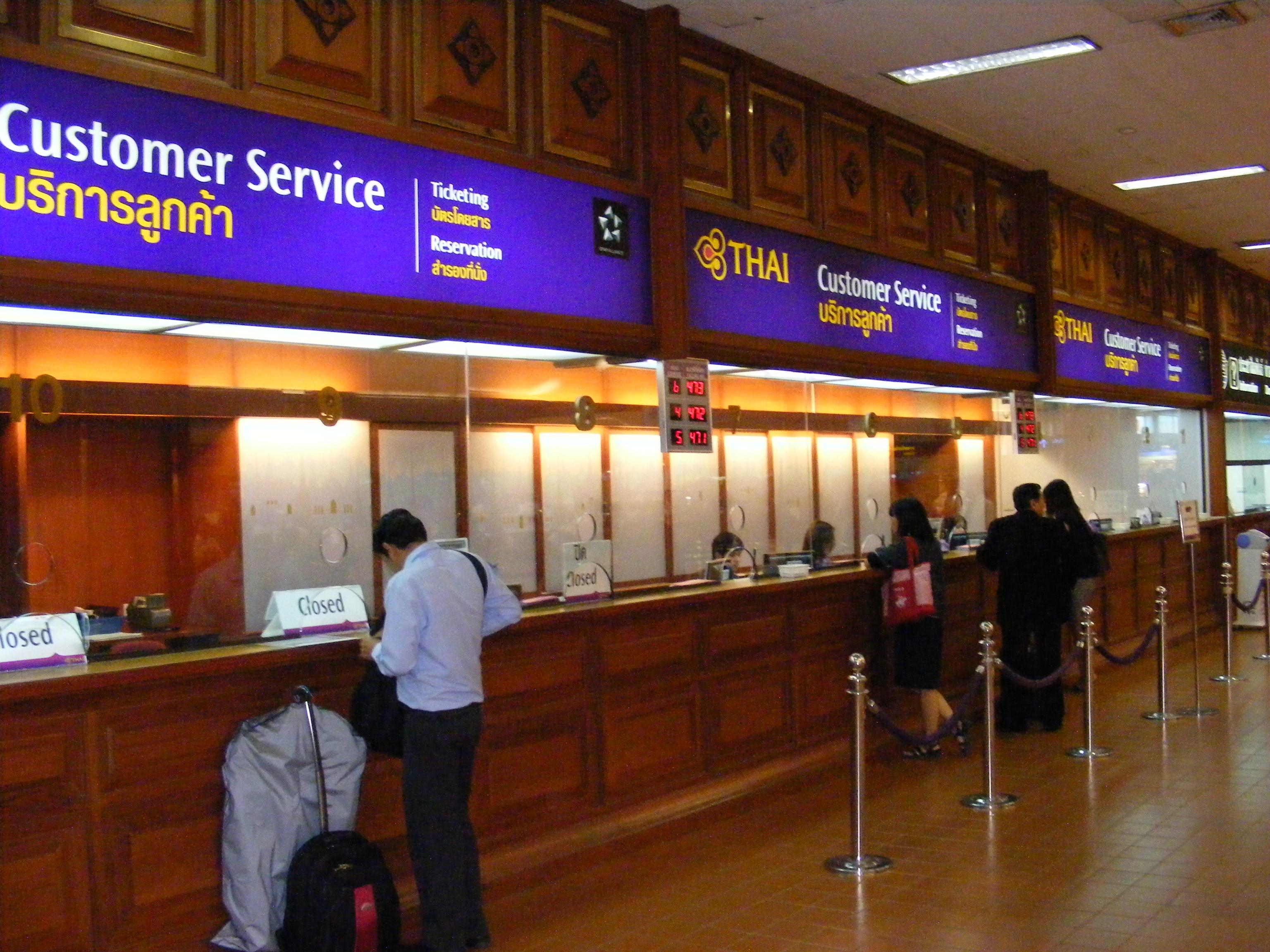 File don mueang airport domestic terminal thai airways customer