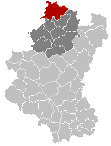 Location of Durbuy in Luxembourg province