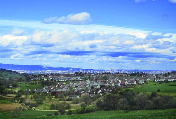 Editted Neilston village (Glasgow beyond)