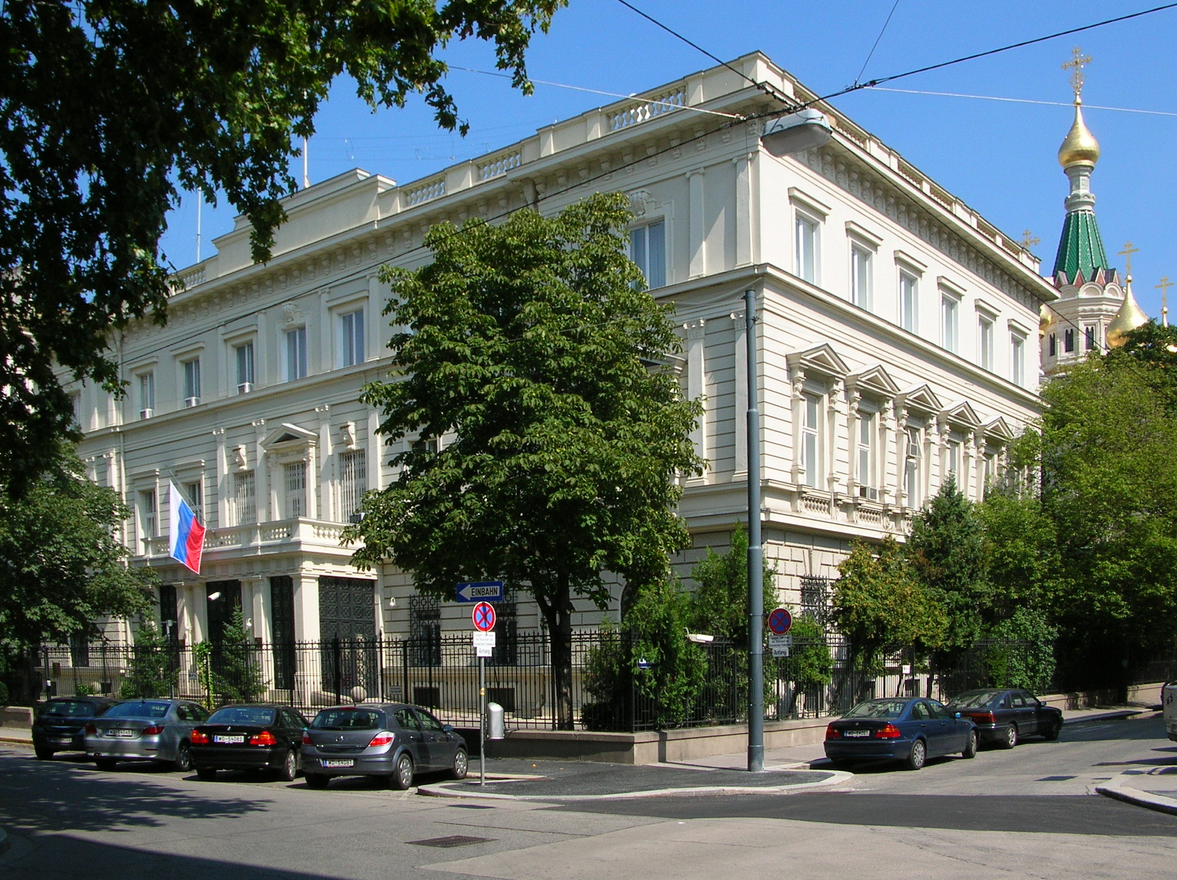 The purpose The embassy of the russian