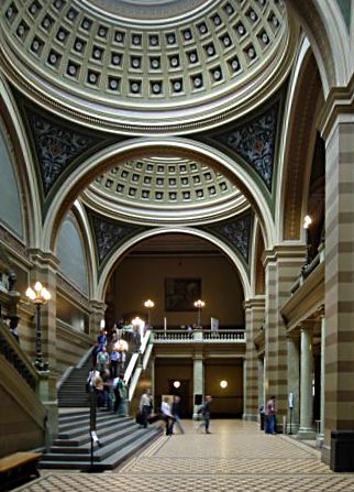 Entrance hall of Uppsala University main building