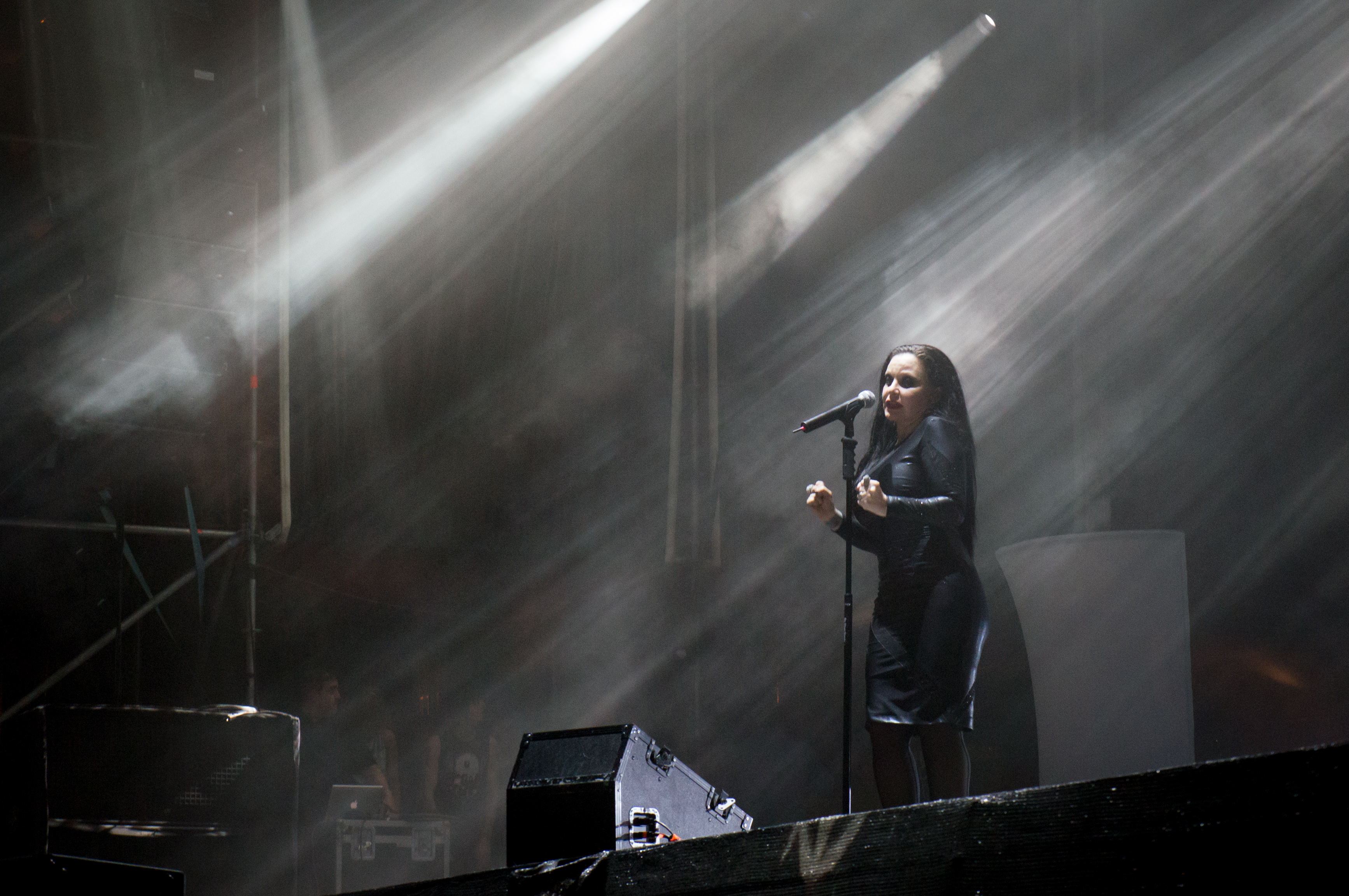 Fangoria actuando en el Low Cost Festival de Benidorm en 2013.