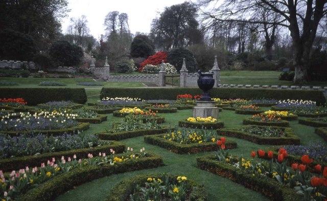 Formal gardens at Lanhydrock House - geograph.org.uk - 474031