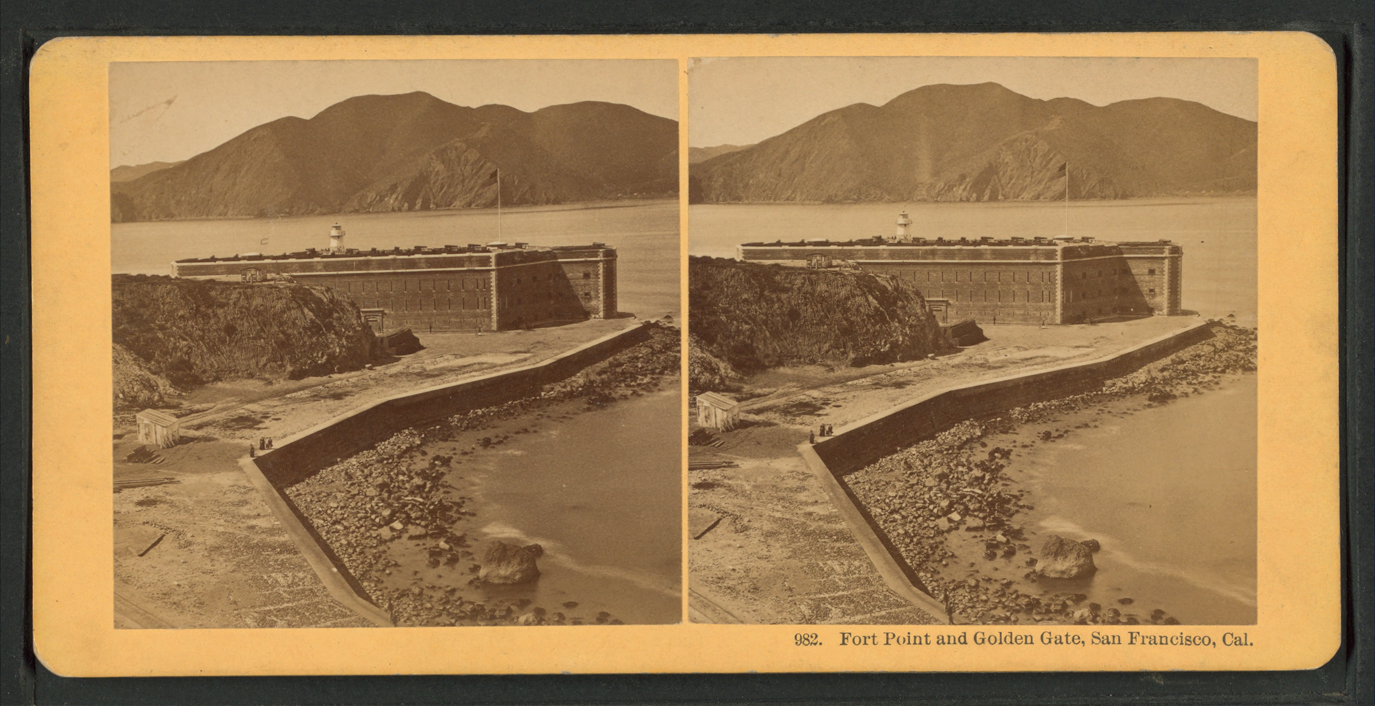 file fort point and golden gate  san francisco  cal  from robert n  dennis collection of
