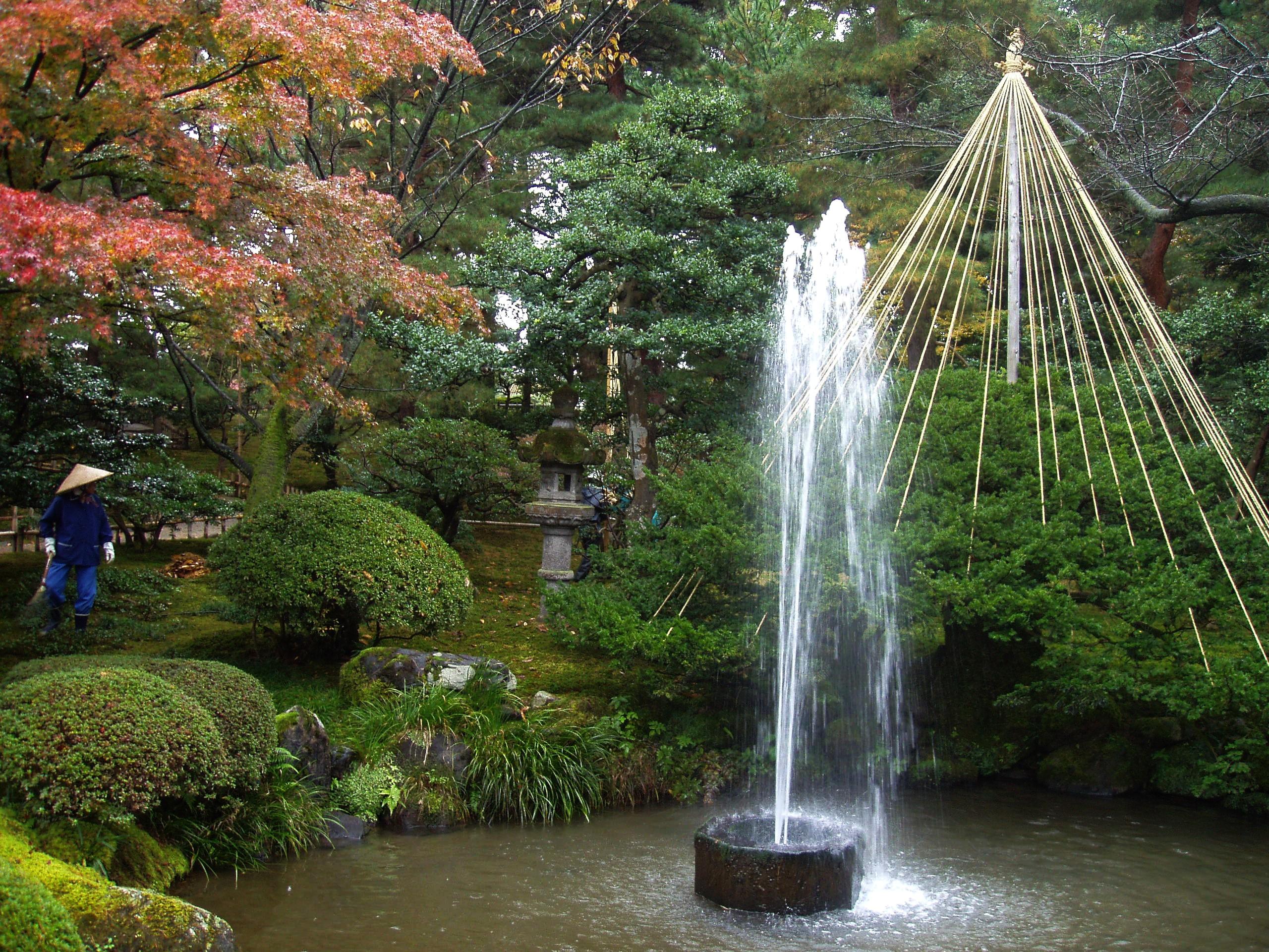 File:Fountain Kenrokuen Garden Kanazawa Japan.JPG
