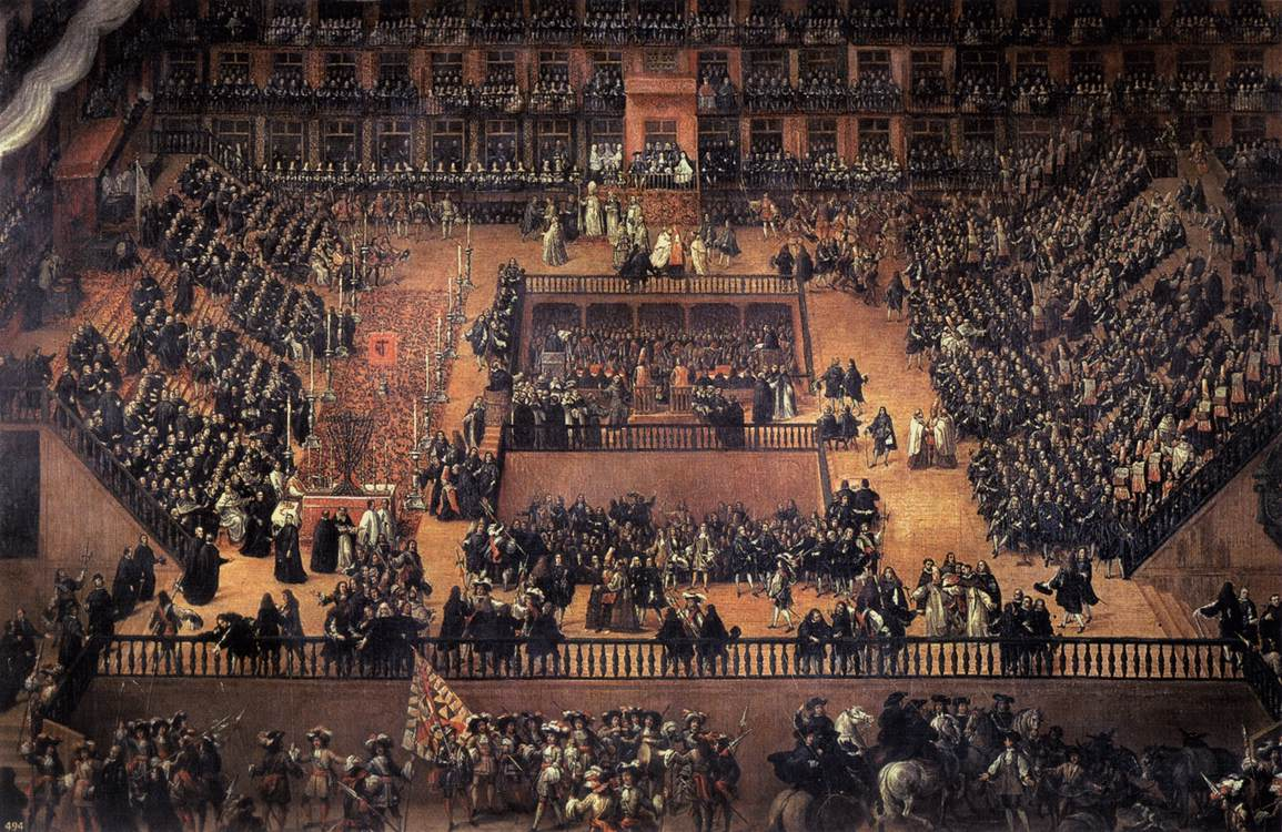 Auto de Fe en la Plaza Mayor de Madrid, Francisco Rizi, 1683.