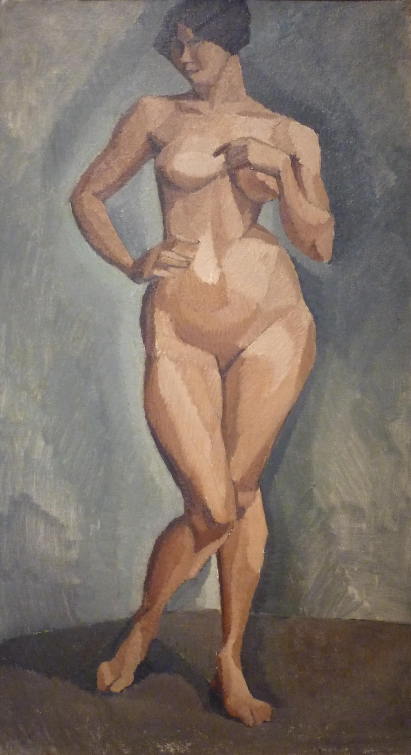 painting standing nude