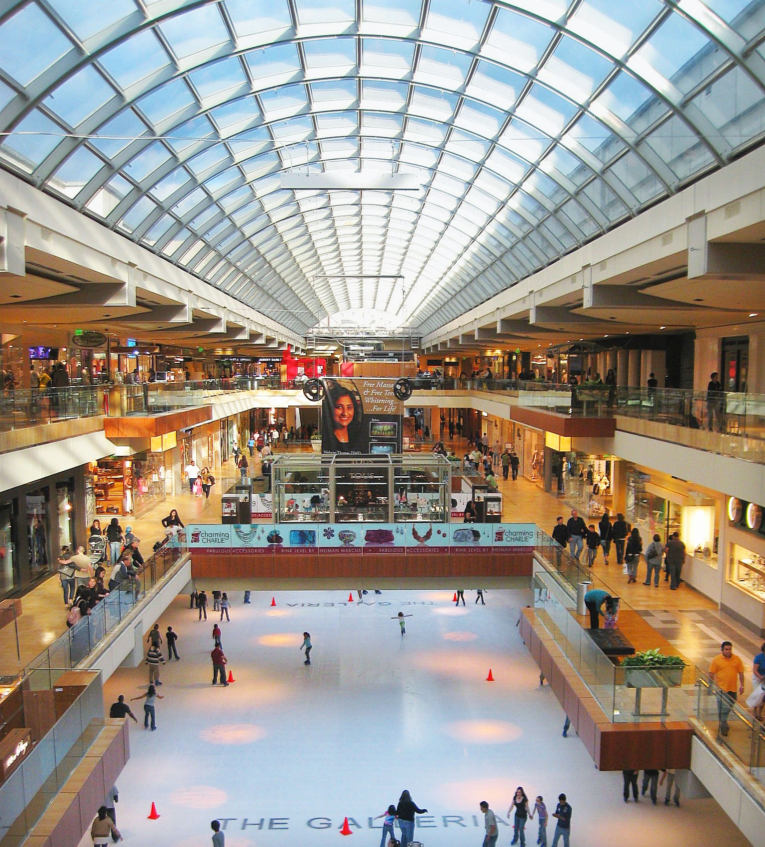 The Galleria in the Uptown District is the largest mall in Texas.