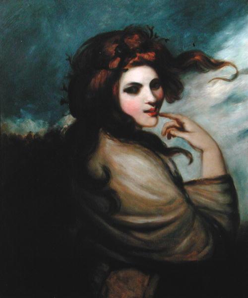 Description george romney portrait of emma hamilton
