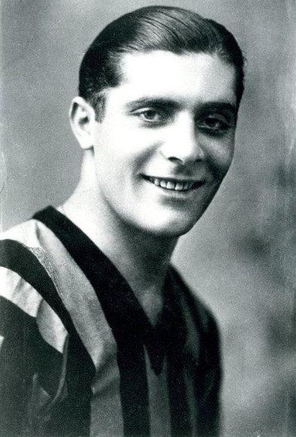 Giuseppe Meazza scored twice in the second half for Italy