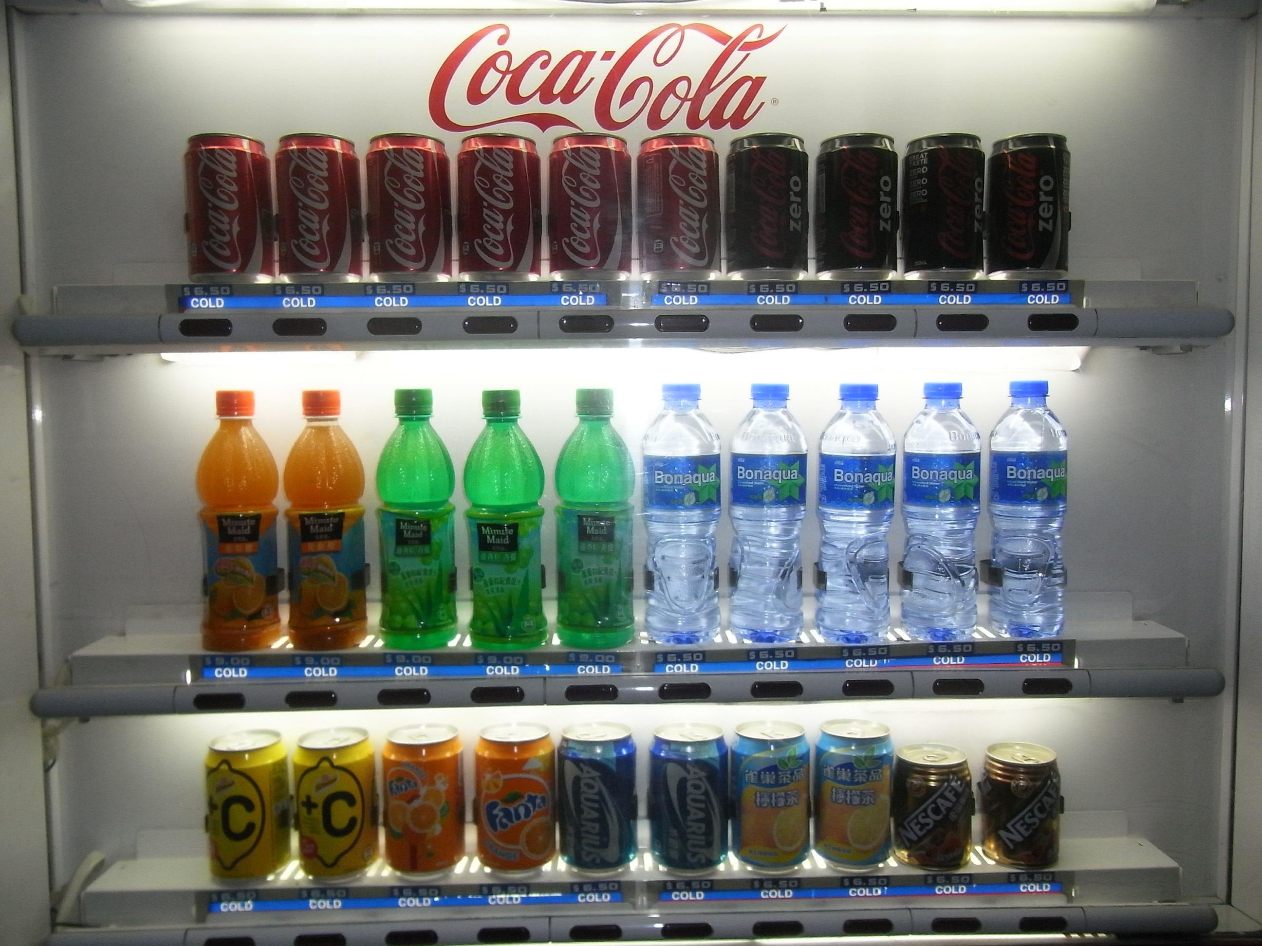 coca cola soft drink machine