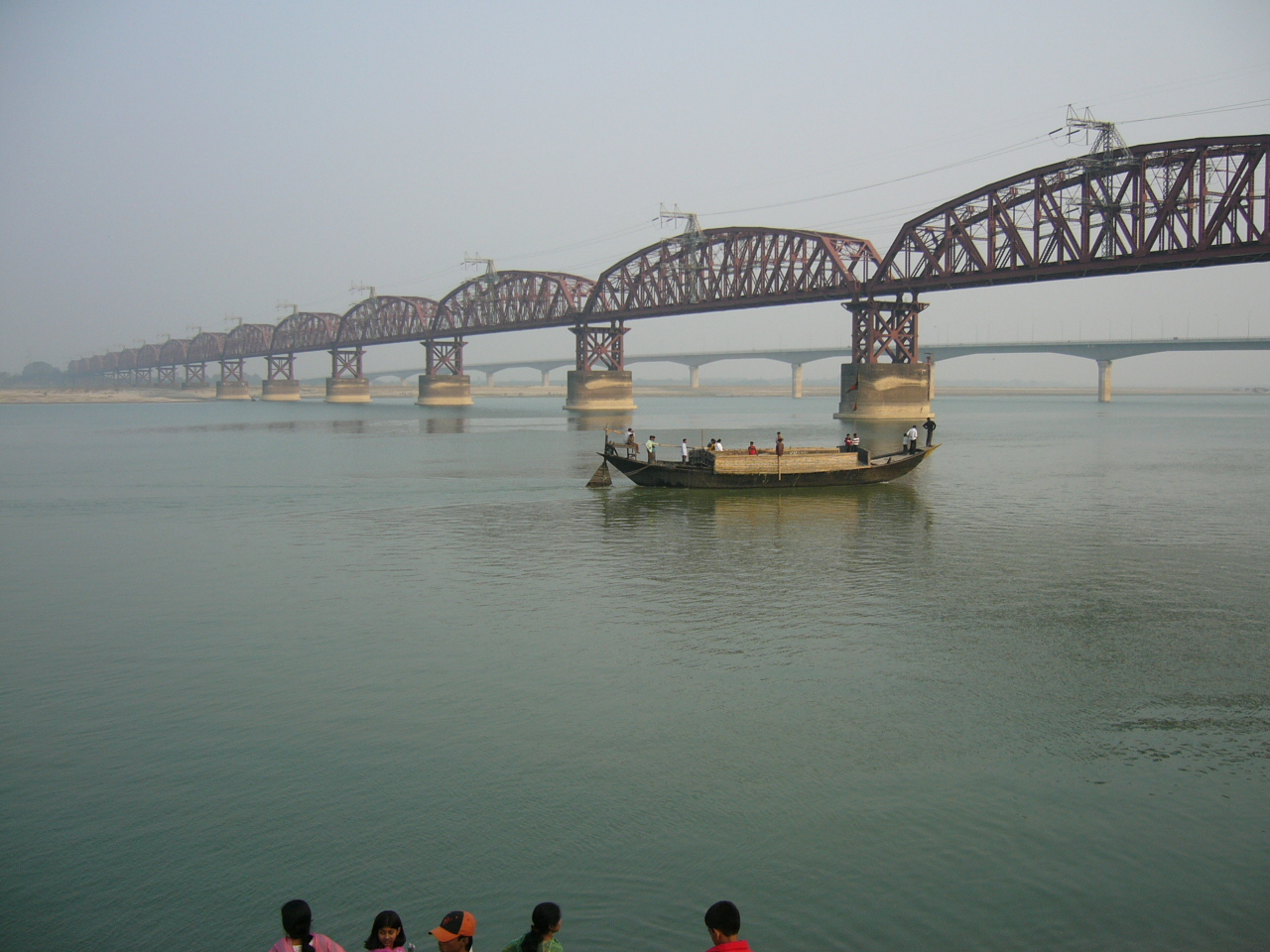 Hardinge Bridge, Bangladesh, crosses the Ganges-Padma River. It is one of the key sites for measuring streamflow and discharge on the lower Ganges.