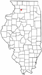 Location of Dixon, Illinois