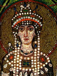 The mosaic of Empress Theodora in Saint Apolli...