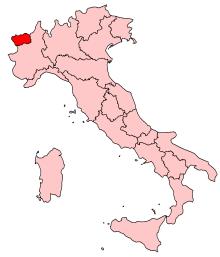 Location of the Aosta Valley