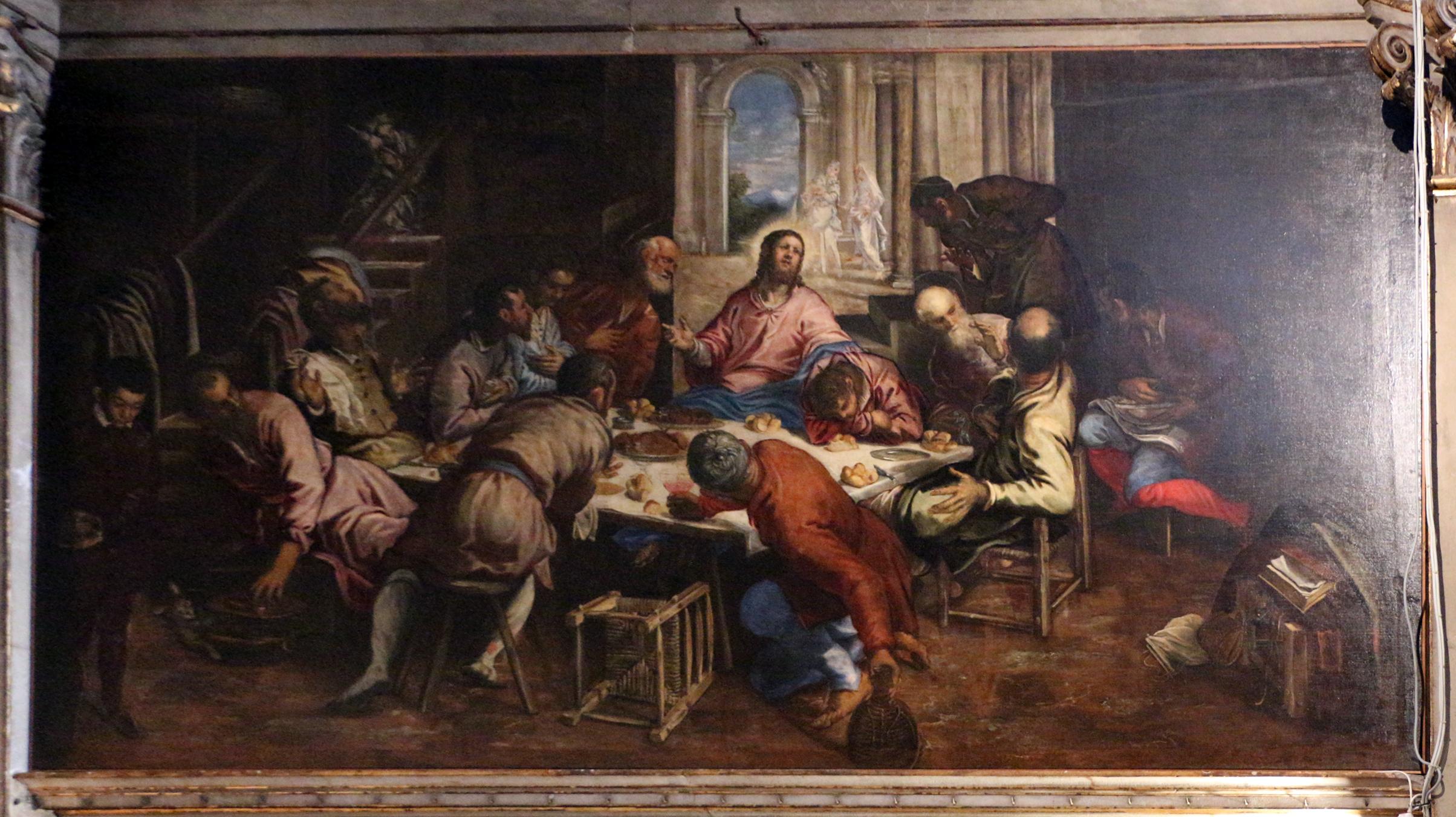 File:Jacopo tintoretto, ultima cena, 1560 ca. (san trovaso) 01