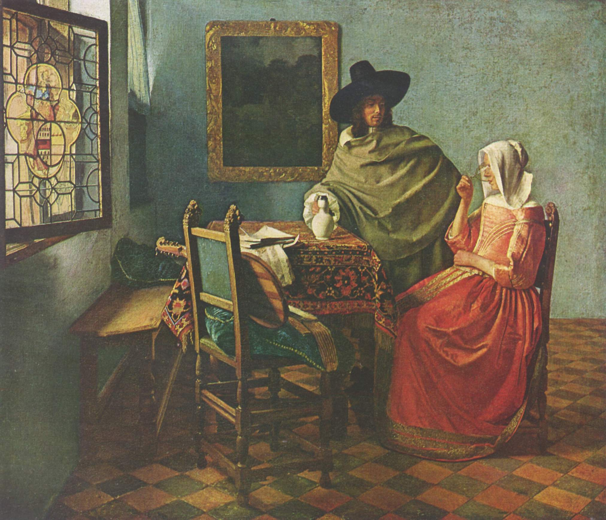 Paintings galleries genre artist painting daily life of for Painting while drinking wine