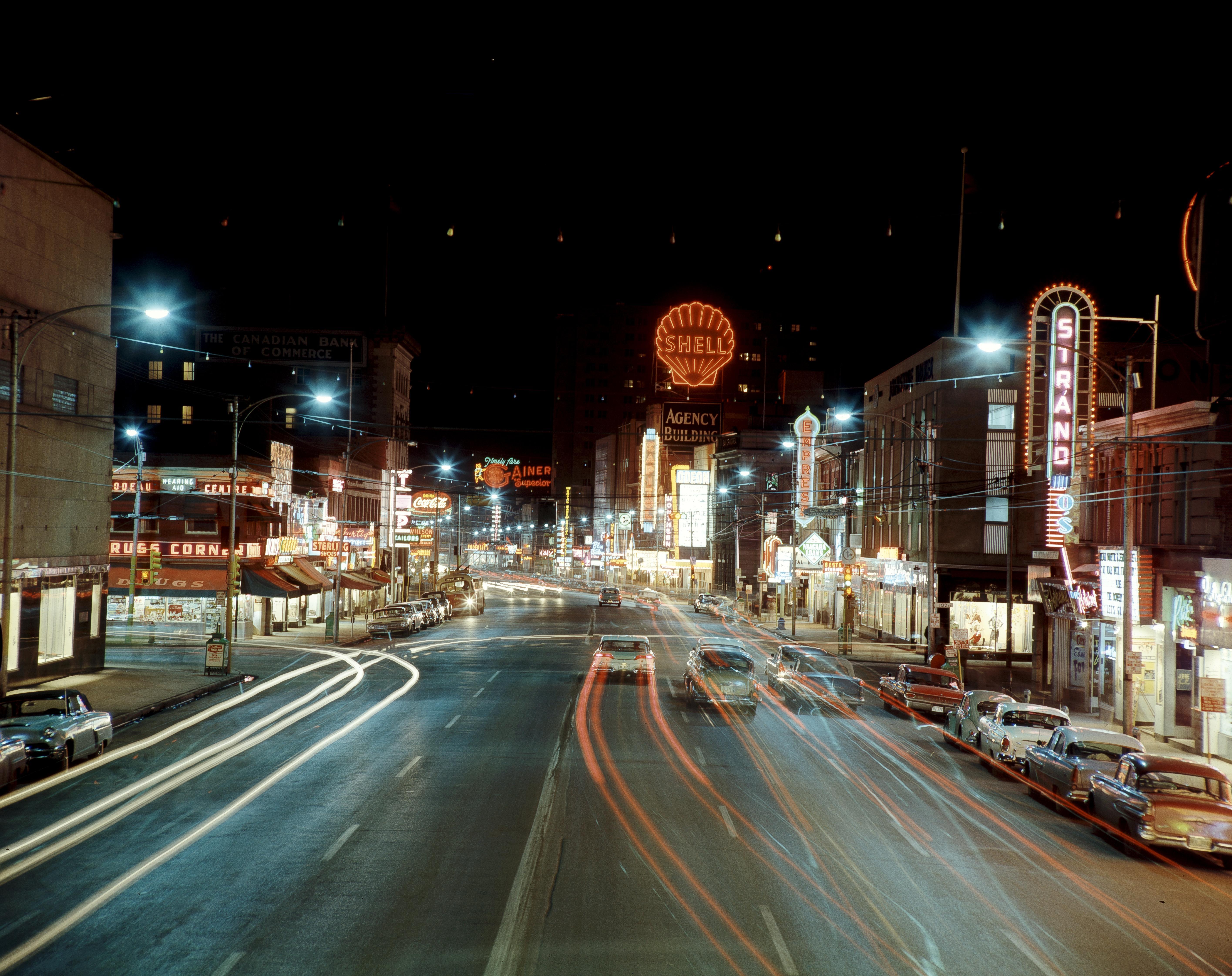 Jasper Avenue Looking West From 103 Street 1950