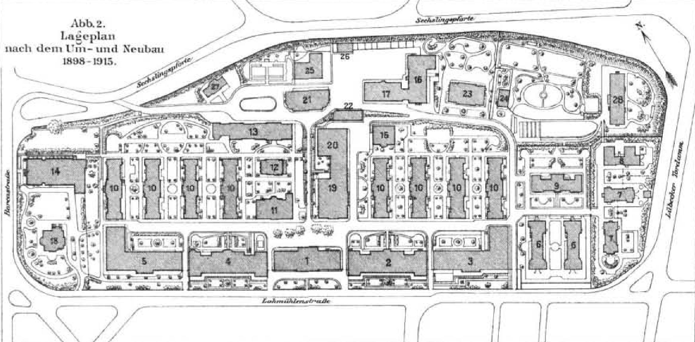 datei krankenhaus st georg nach dem umbau 1915 lageplan zfb 1917 png wikipedia. Black Bedroom Furniture Sets. Home Design Ideas
