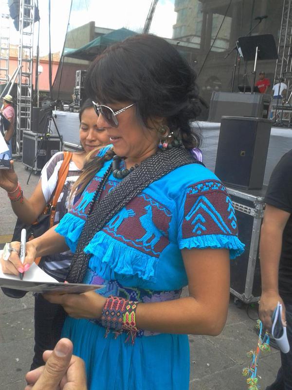Lila Downs en San Luis Potosí, 2014.