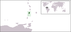 Location of Saint Vincent jeung Grénadin