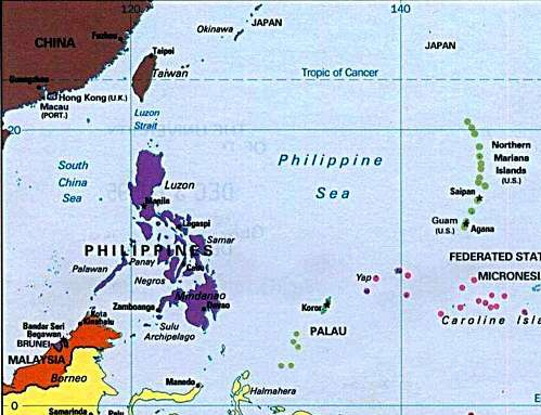 Philippine Sea Map File:MAP Philippine sea.   Wikimedia Commons