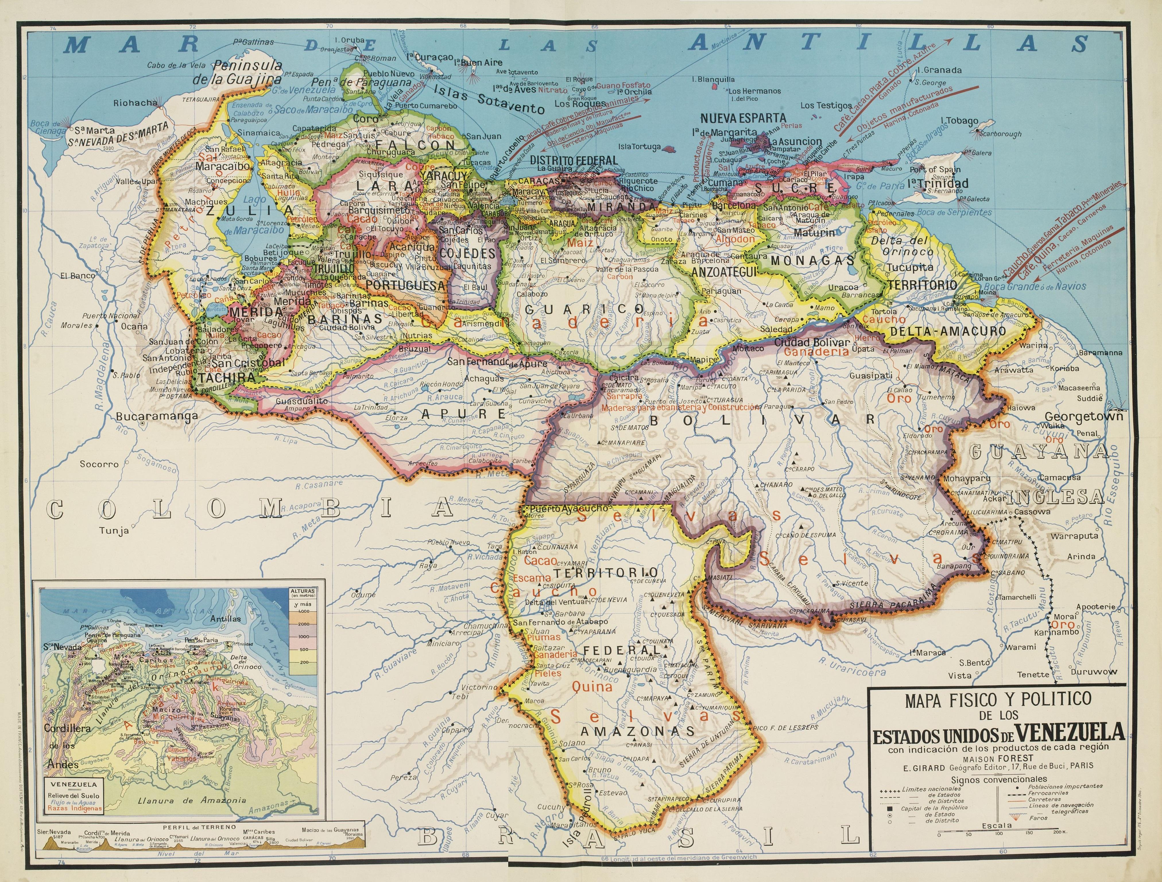 File Mapa De Venezuela 1930 Jpg Wikimedia Commons