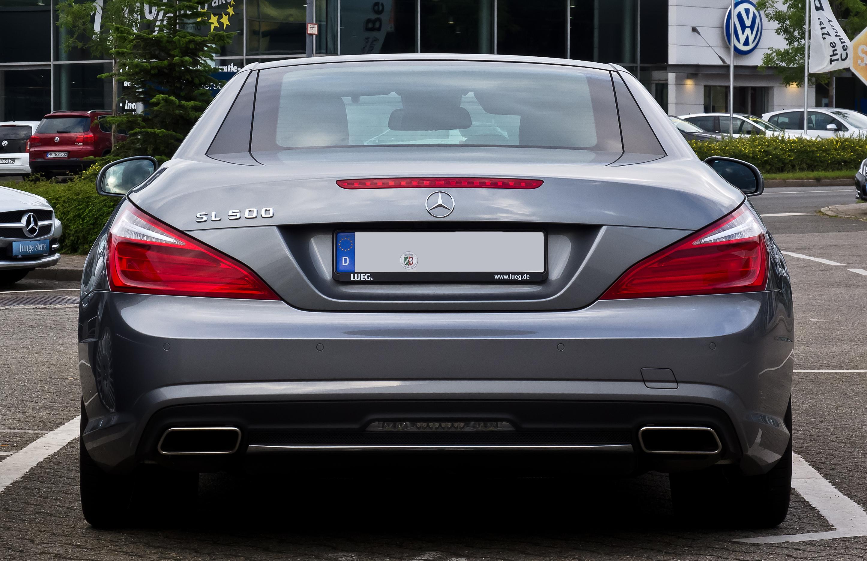 File Mercedes Benz Sl 500 Blueefficiency Sport Paket Amg R 231 Heckansicht 1 8 August 2017 Velbert Jpg