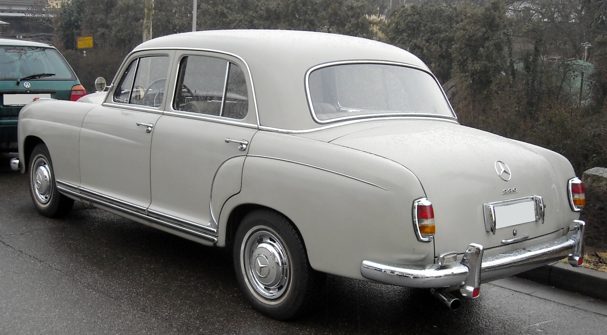 File mercedes benz w121 rear wikimedia commons for Mercedes benz w
