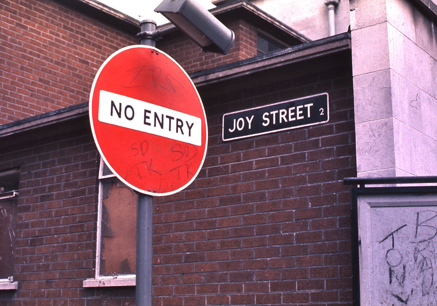 Entry Northern Ireland File:No Entry to Joy Street in Belfast, Northern Ireland, 1974.jpg
