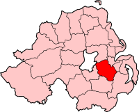center Map highlighting Lisburn
