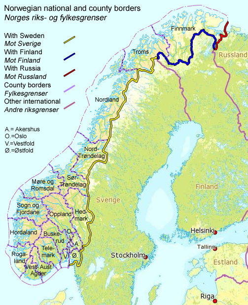 NorwayRussia Border Wikipedia - Norway map download pdf