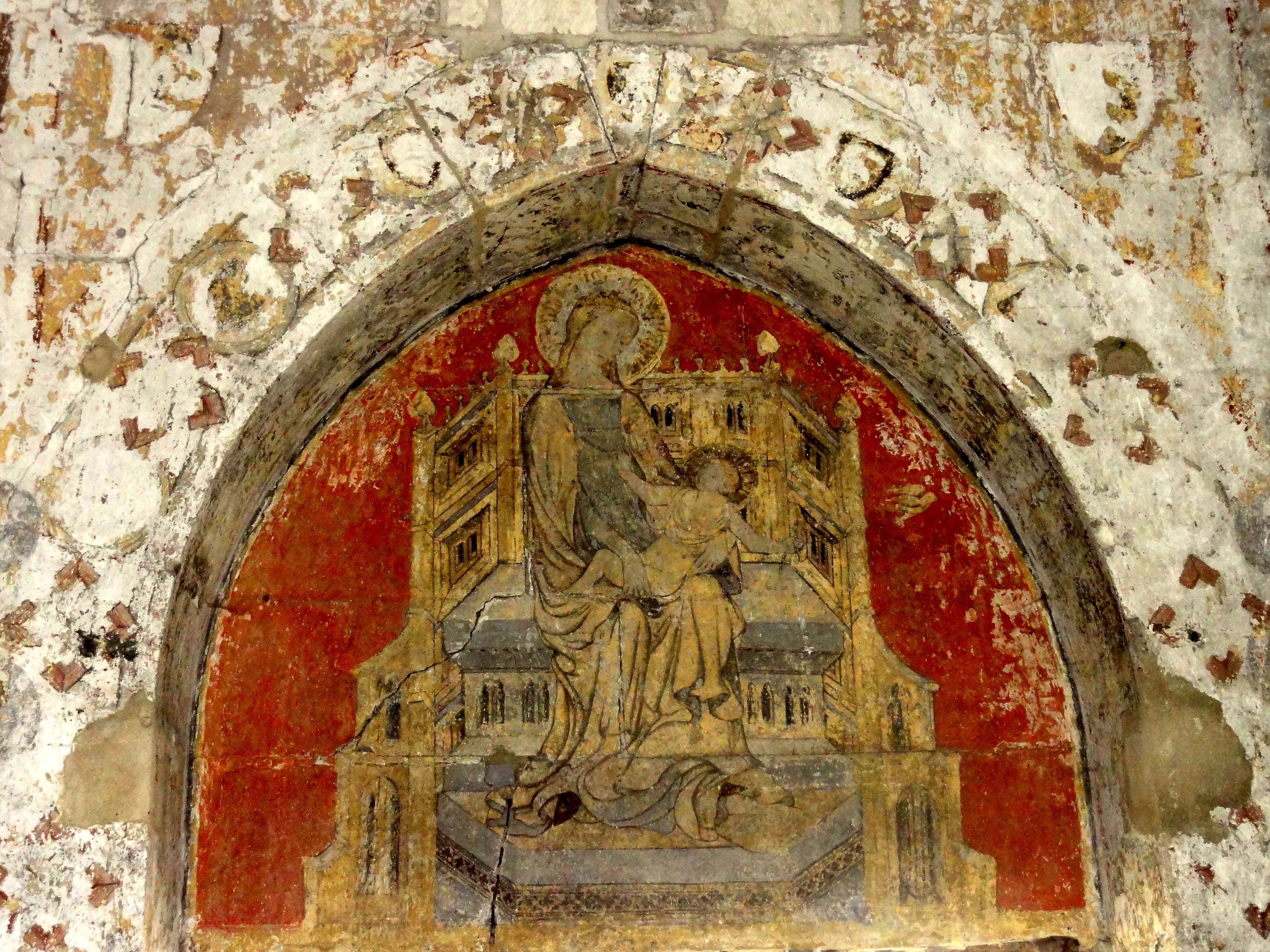 Fichier pontpoint 60 abbaye du moncel r fectoire for Peinture murale enfant