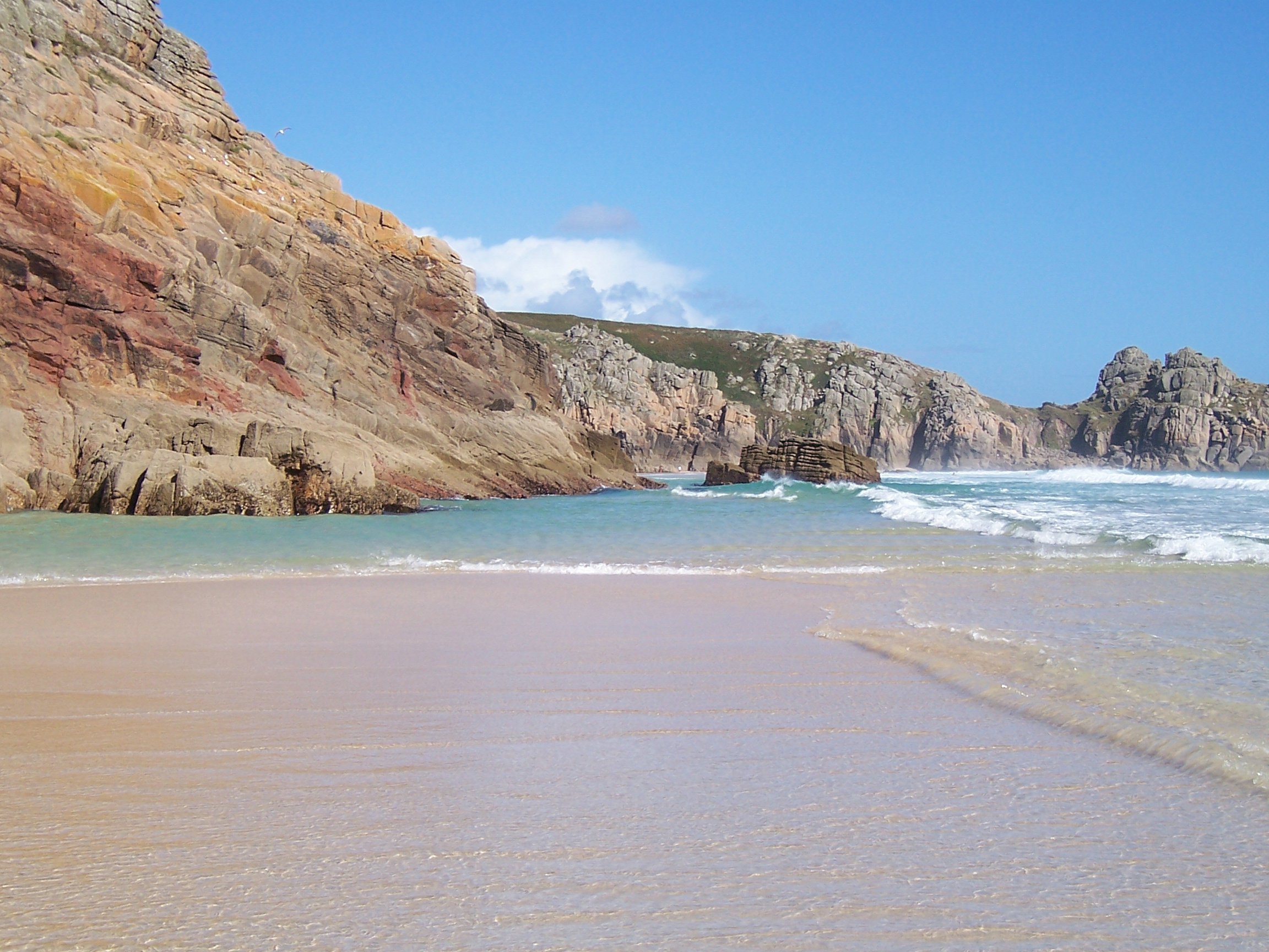 Cornwall is known for its beaches and rugged coastline.