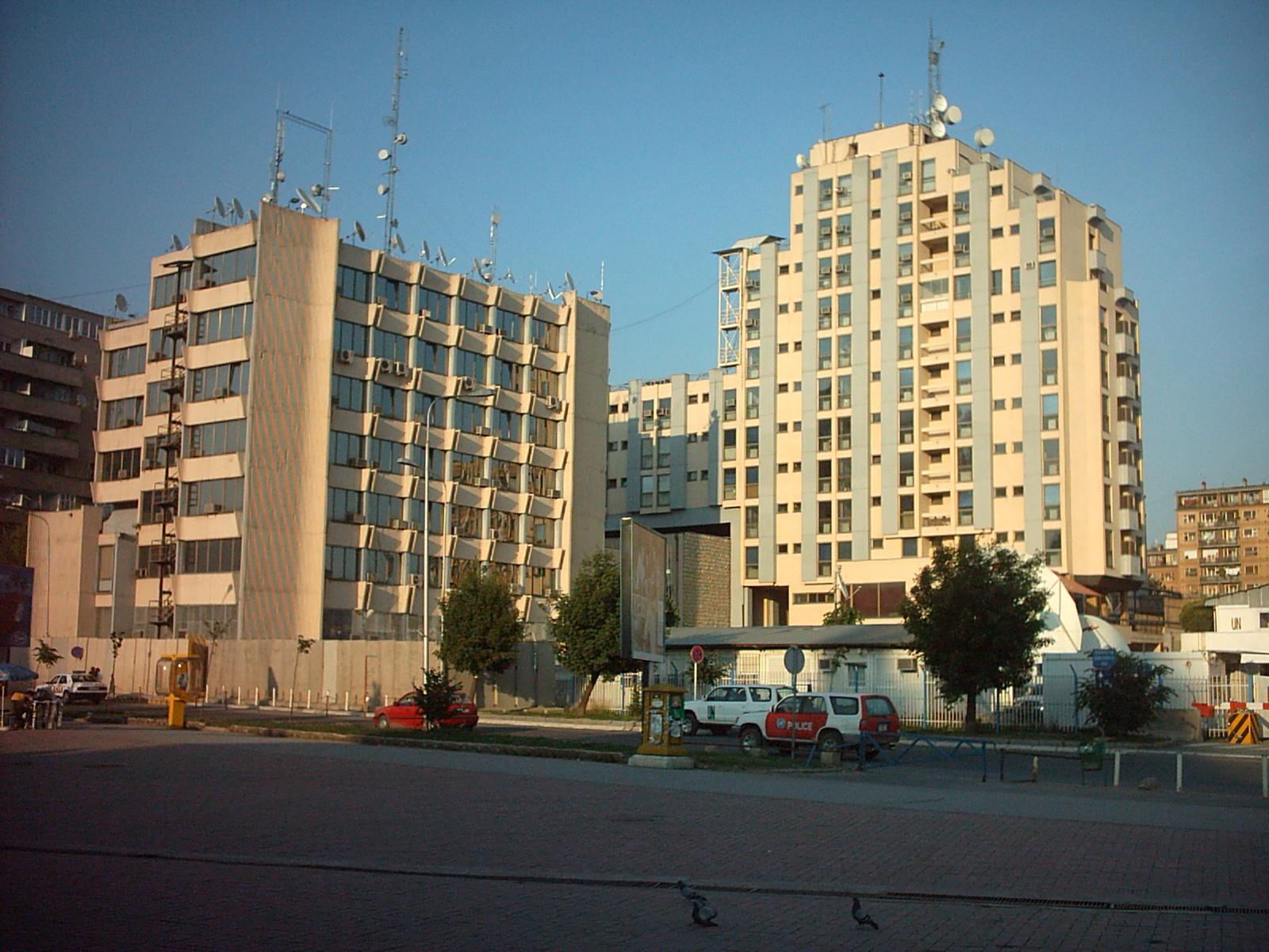 Hauptquartier der UNMIK in der Hauptstadt Priština