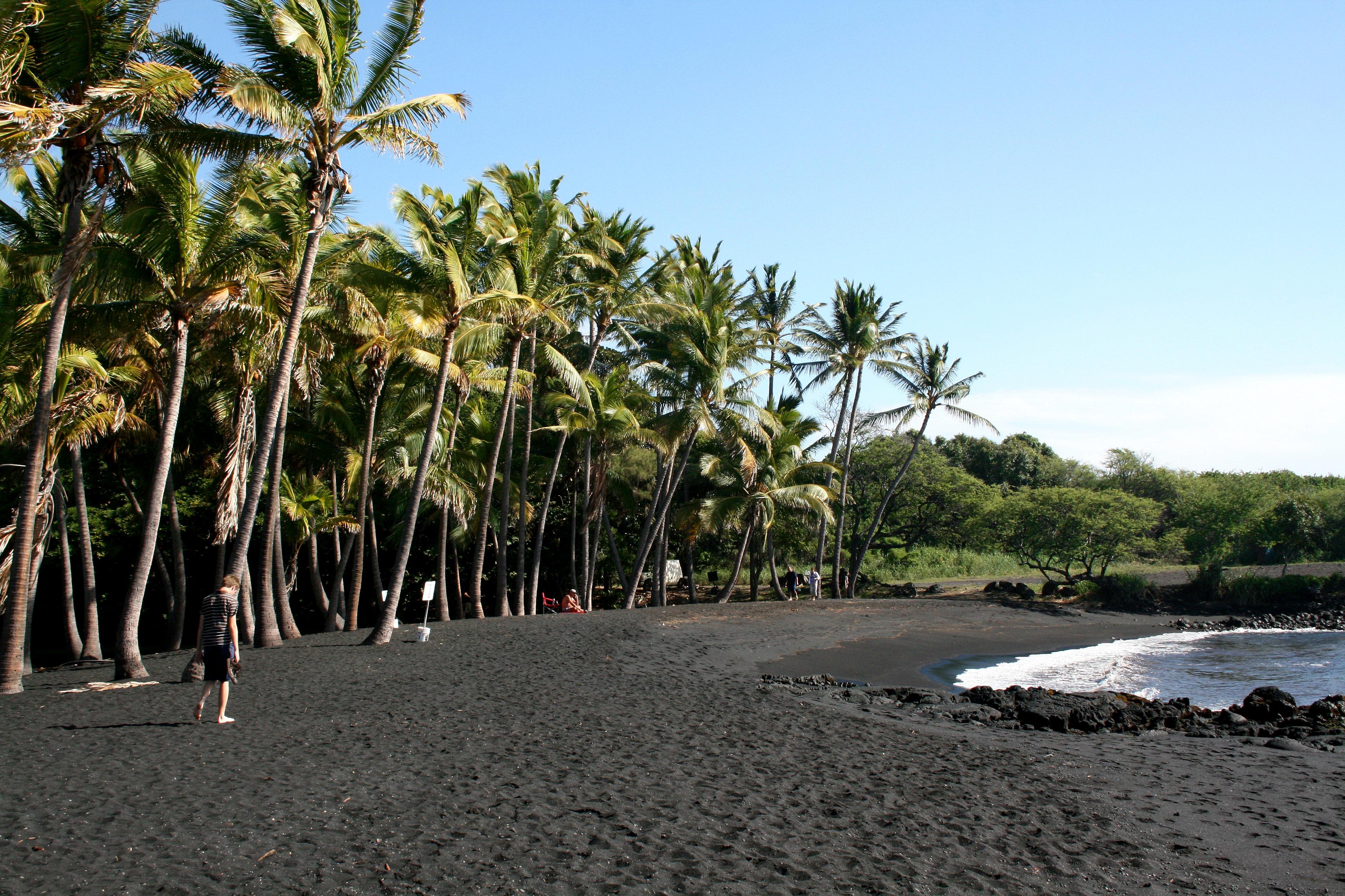File Punaluu Black Sand Beach Hawaii Usa7 Jpg