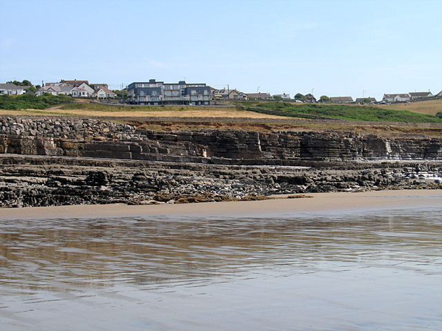 Rock Strata on Ogmore Beach - geograph.org.uk - 209395
