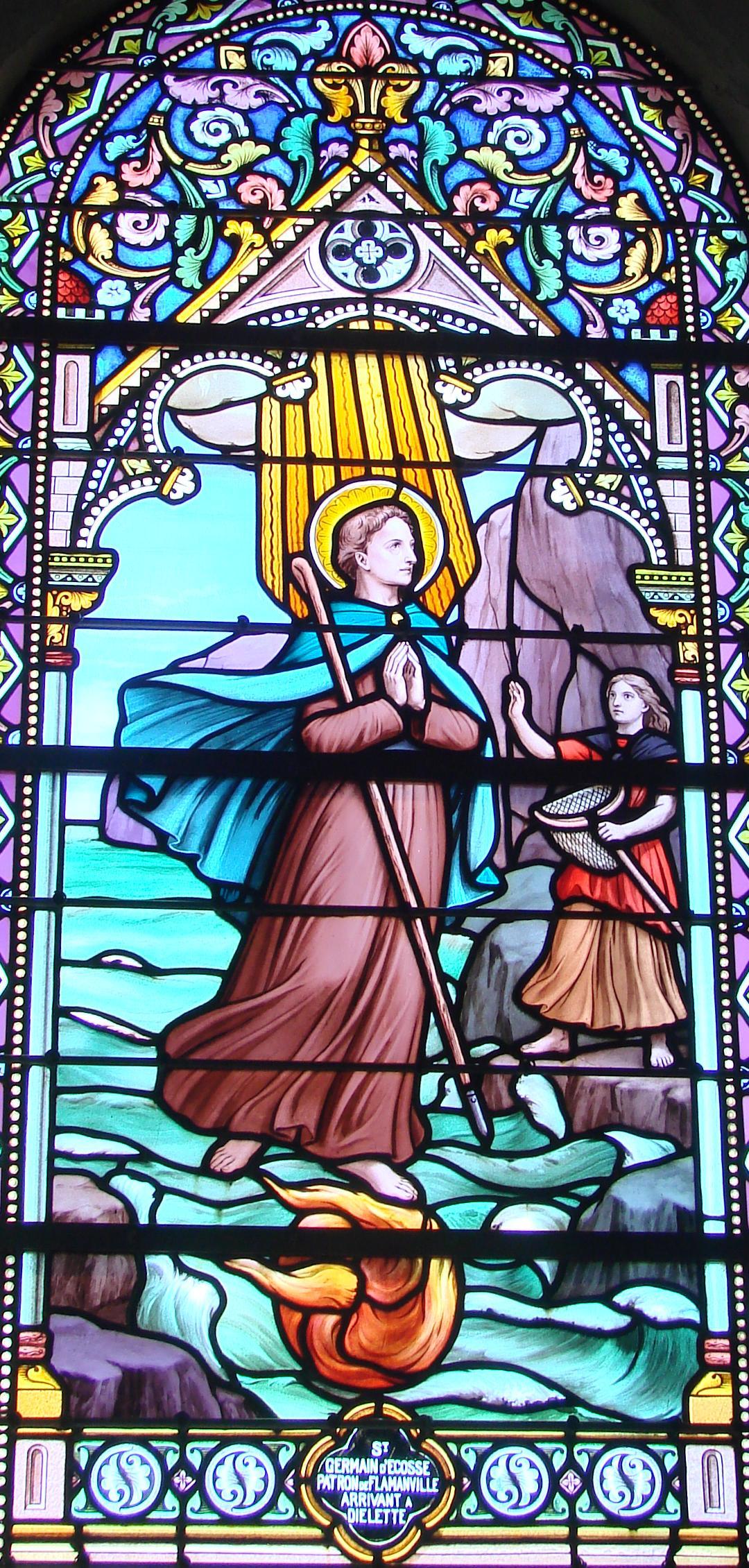 Fichier saint germain arrivant di lette vitrail eglise saint germain de fla - La quincaillerie saint germain ...