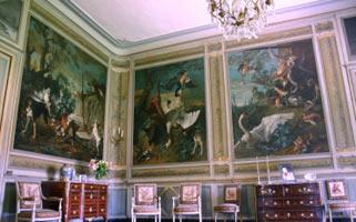 Salon du Château de Condé décoré par Jean-Baptiste Oudry (détail)